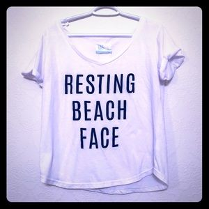 Tops - Graphic Tee - Resting Beach Face - L
